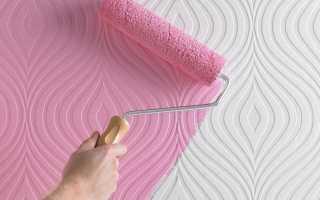 Покраска виниловых обоев: на флизелиновой или другой основе, выбор краски и технология работ