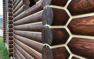 Покраска деревянного сруба