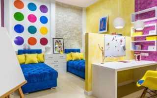 Выбор краски для отделки стен детских комнат