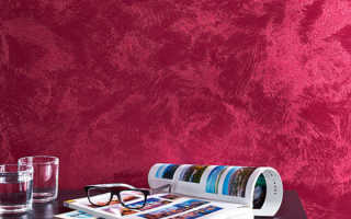 Краска с эффектом бархата создает иллюзию стен, оклеенных текстилем. Передает нежность ворсистой ткани, глубину.