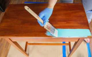 Как перекрасить лакированную мебель своими руками