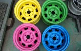 Как выполнить покраску штампованных дисков