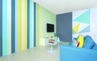 Комбинированная покраска стен двумя цветами у себя дома, варианты дизайна
