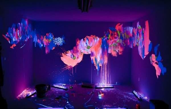 Роспись флуоресцентной краской