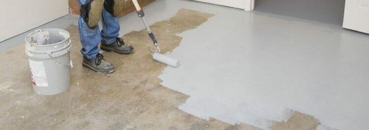 Покраска по бетону.