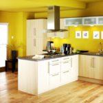Желтая краска на кухне