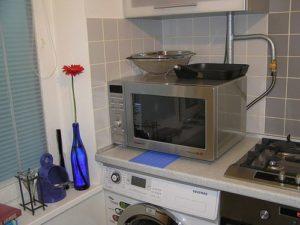 Газовая труба на кухне