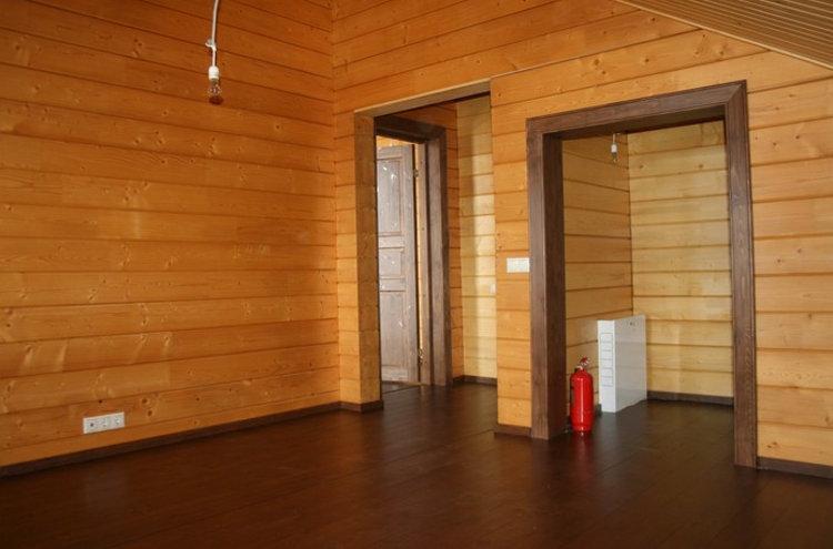 Имитации бруса внутри помещения