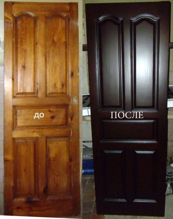 Крашеная дверь
