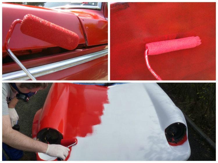 Покраска машины валиком покрытие