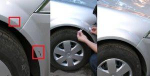 Покраска царапин на авто