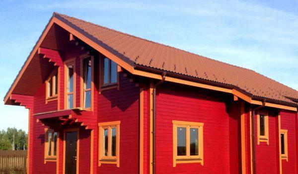 Крашеный фасад дома
