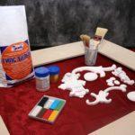 Как и чем красить изделия из гипса