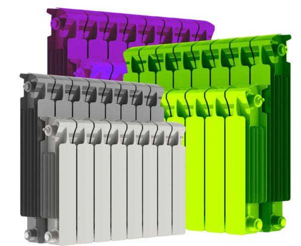 Цветные радиаторы