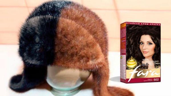 как покрасить норковую шапку в домашних условиях