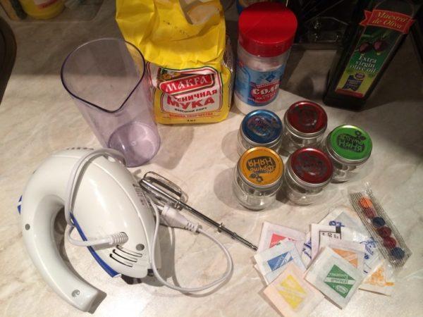 Ингредиенты для пальчиковых красок