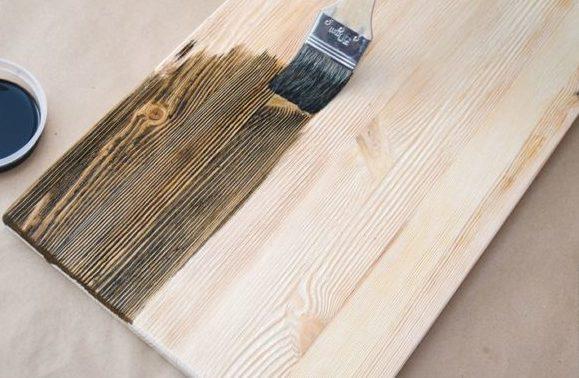 Колорирование древесины
