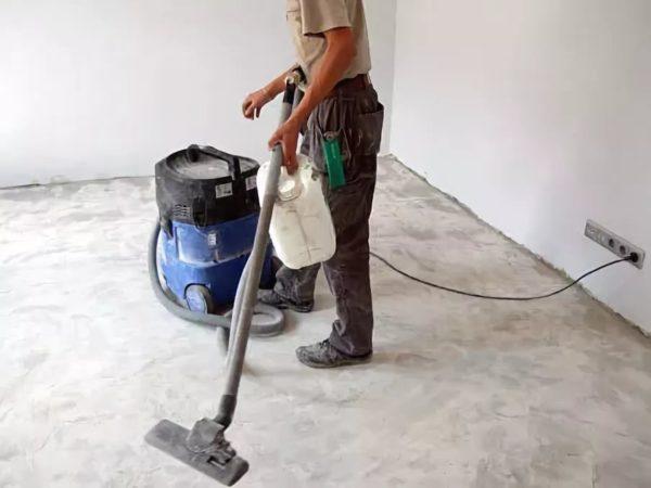 Очистка пола перед покраской
