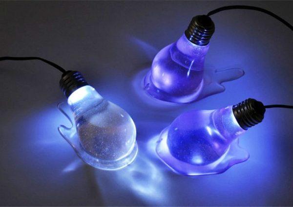 Пример использование окрашенных лампочек