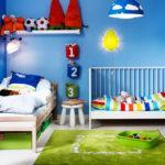 Вариант покраски стен в детской комнате мальчика