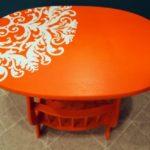 Как покрасить деревянный стол: способы декорирования винтажной мебели
