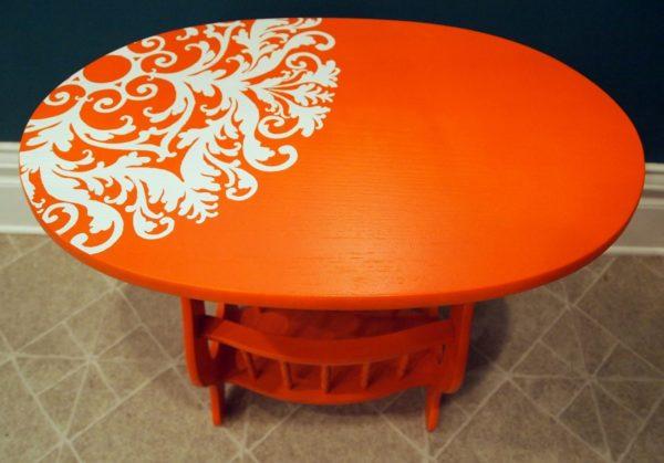 Покраска стола