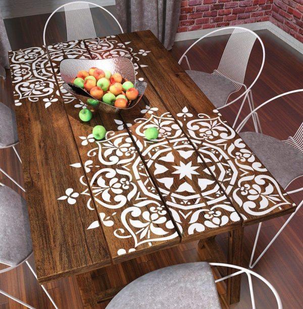 Вариант декорирования стола