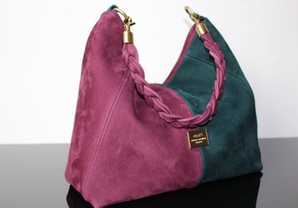 Замшевая крашеная сумка
