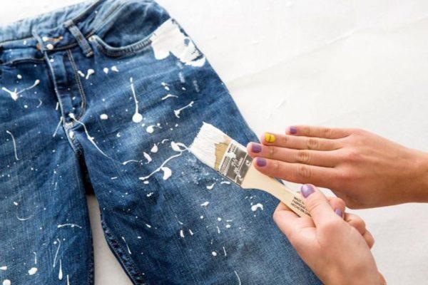 Удаление акриловой краски с одежды