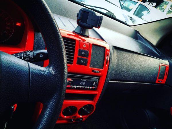 Покраска пластика в салоне автомобиля