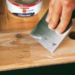 Шпаклевка древесины чтобы убрать неровности