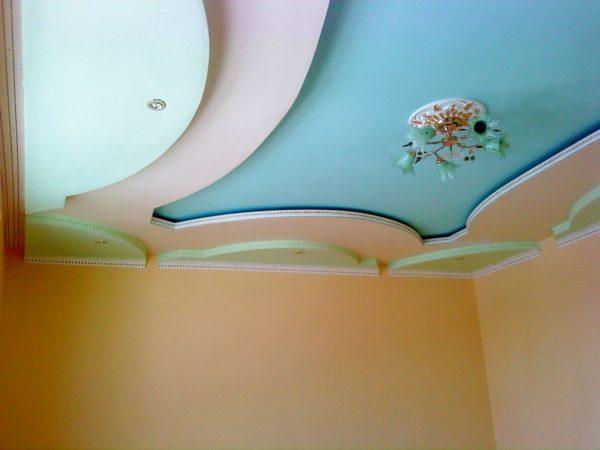 Покраска потолка из гипсокартона своими руками