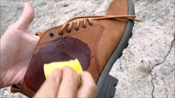 Покраска обуви из нубука