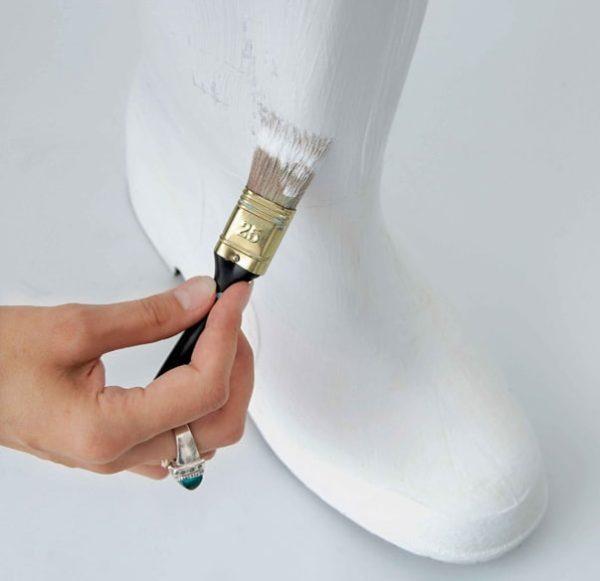 Покраска резиновой обуви