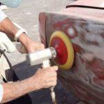 Удаление старой краски с кузова