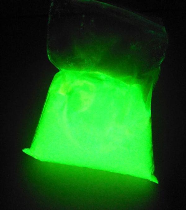 Зеленый порошок люминофор