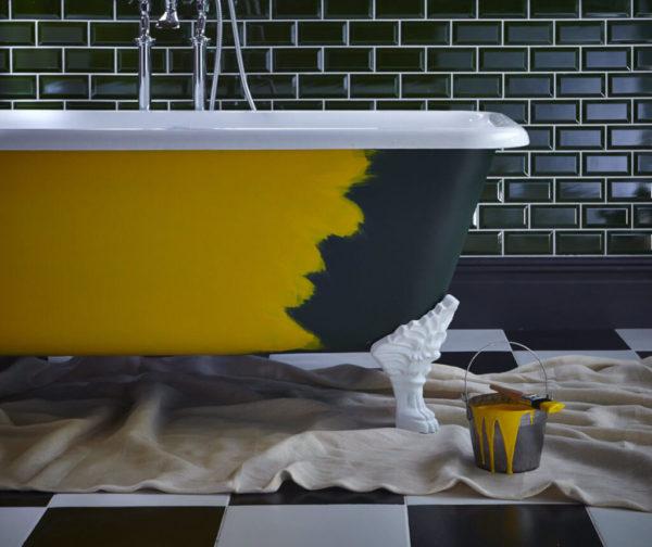 Покраска наружной поверхности ванны