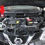 Расположение шильдика VIN в Nissan