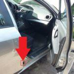 Шильдик VIN в автомобиле Mazda