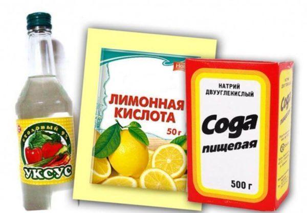 Уксус, лимонная кислота или сода поможет закрепить цвет хлопка