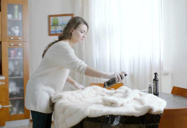 Окрашивание можно производить аэрозольной краской дома