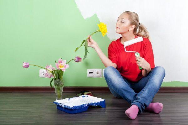 Запах краски не только портит настроение, но и опасен для здоровья