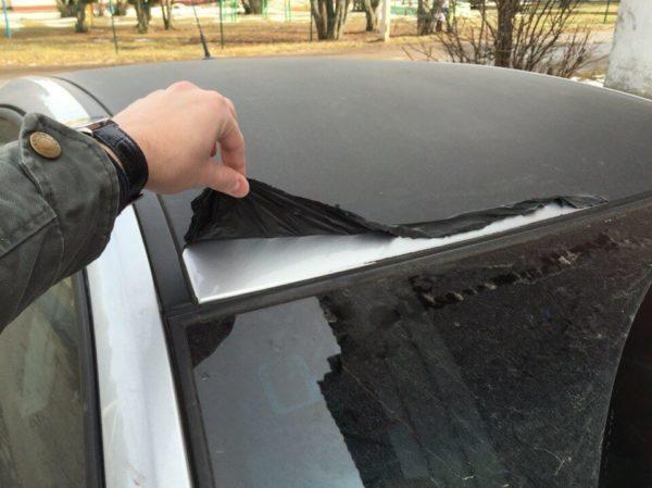 Жидкая резина на автомобиле берется пленкой