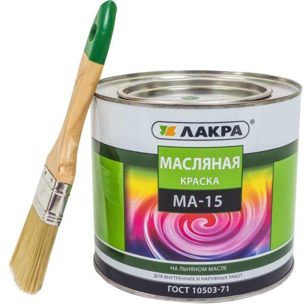 Масляная краска МА-15 на льняном масле