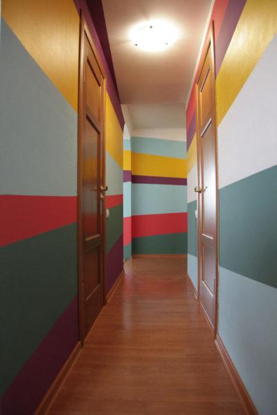 Краска позволяет сделать любой рисунок на стене